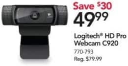 Office Depot and OfficeMax Black Friday: Logitech HD Pro Webcam C920 for $49.99