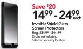Office Depot and OfficeMax Black Friday: InvisibleShield Glass Screen Protectors for $14.99 - $24.99