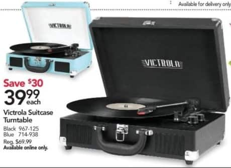 Office Depot and OfficeMax Black Friday: Victrola Suitcase Turntable for $39.99