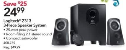 Office Depot and OfficeMax Black Friday: Logitech Z313 3-Piece Speaker System for $24.99