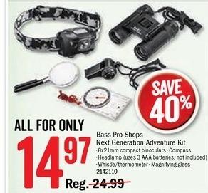 Bass Pro Shops Black Friday: Bass Pro Shops Next Generation Adventure Kit for $14.97
