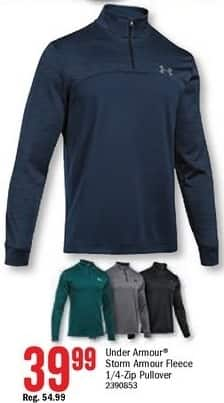 Bass Pro Shops Black Friday: Under Armour Men's Storm Armour Fleece 1/4-Zip Pullover for $39.99