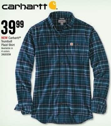 Bass Pro Shops Black Friday: Carhartt Men's Trumbull Plaid Shirt for $39.99