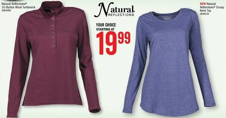 Bass Pro Shops Black Friday: Natural Reflections Women's Scoop Neck Top - Starting at $19.99