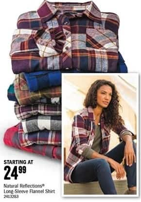 Bass Pro Shops Black Friday: Natural Reflections Women's Long-Sleeve Flannel Shirt - Starting at $24.99