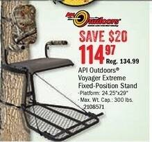 Bass Pro Shops Black Friday: API Outdoors Voyager Extreme Fixed-Position Stand for $114.97