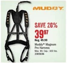 Bass Pro Shops Black Friday: Muddy Magnum Pro Harness for $39.97