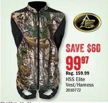 Bass Pro Shops Black Friday: HSS Elite Vest/Harness for $99.97