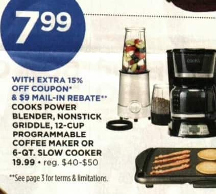 JCPenney Cyber Monday: Cooks 12-Cup Programmable Coffee Maker for $7.99 after $9 rebate