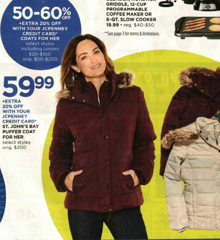 JCPenney Cyber Monday: Women's Coats, Select Styles - 50 - 60% Off