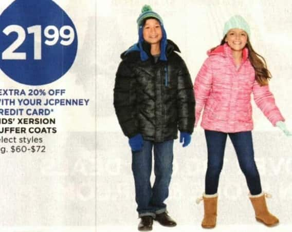 JCPenney Cyber Monday: Xersion Kids' Puffer Coats, Select Styles for $21.99