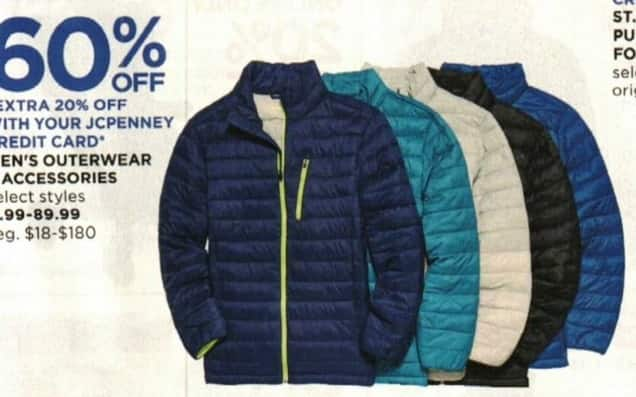 JCPenney Cyber Monday: Men's Outerwear and Accessories - 60% Off