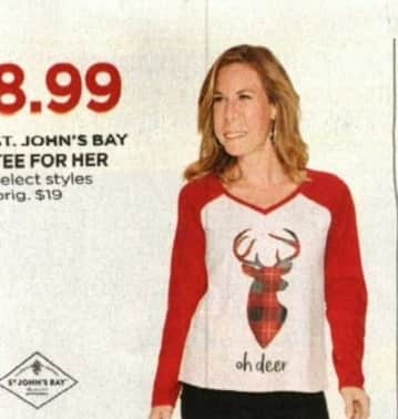 JCPenney Cyber Monday: St. John's Bay Women's Tee, Select Styles for $8.99