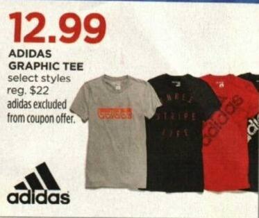 JCPenney Cyber Monday: Adidas Women's Graphic Tee, Select Styles for $12.99