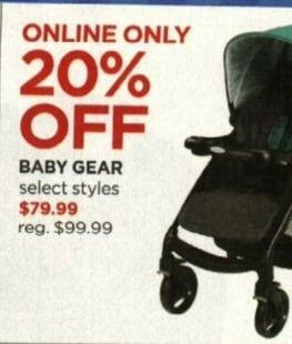 JCPenney Cyber Monday: Baby Gear, Select Styles - 20% Off