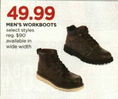 JCPenney Cyber Monday: Men's Workboots, Select Styles for $49.99