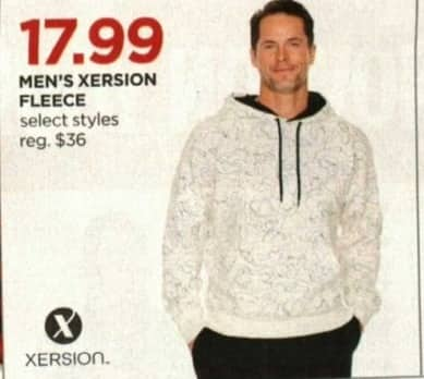 JCPenney Cyber Monday: Xersion Men's Fleece, Select Styles for $17.99