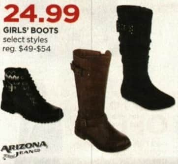 JCPenney Cyber Monday: Arizona Girls' Boots, Select Styles for $24.99