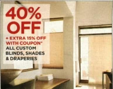 JCPenney Cyber Monday: All Custom Blinds, Shades, and Draperies - 40% Off