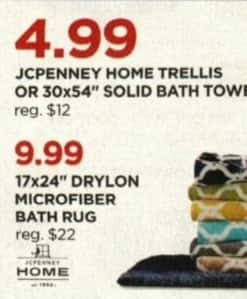 "JCPenney Cyber Monday: JCPenney Home 17x24"" Drylon Microfiber Bath Rug for $9.99"
