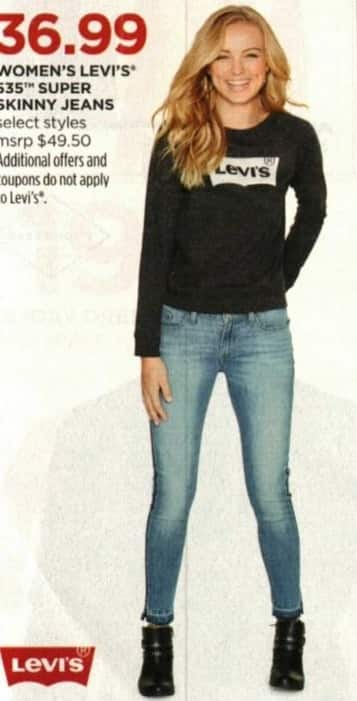 JCPenney Cyber Monday: Levi's Women's 545 Super Skinny Jeans, Select Styles for $36.99