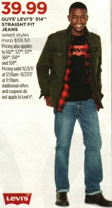 JCPenney Cyber Monday: Levi's Men's Jeans, 502, 527, 517, 569, 550, and 559 Styles for $39.99