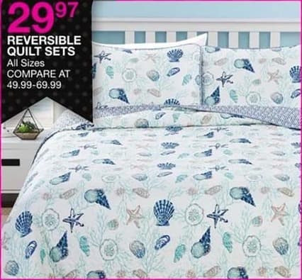 Bealls Florida Black Friday: Reversible Quilt Sets, All Sizes for $29.97