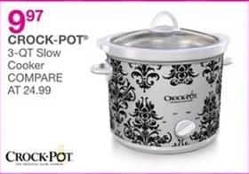 Bealls Florida Black Friday: Crock-Pot 3-Qt. Slow Cooker for $9.97