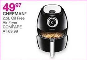 Bealls Florida Black Friday: Chefman 2.5L Oil Free Air Fryer for $49.97