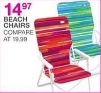 Bealls Florida Black Friday: Beach Chairs for $14.97