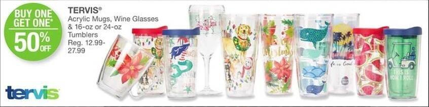 Bealls Florida Black Friday: Tervis Acrylic 16-oz Mugs, Wine Glasses and 24-oz Tumblers - B1G1 50% Off