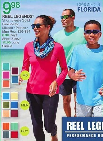 Bealls Florida Black Friday: Reel Legends Short Sleeve Solid Freeline Shirt for Men and Women for $9.98
