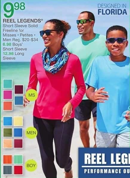 Bealls Florida Black Friday: Reel Legends Long Sleeve Solid Freeline Shirt for Men and Women for $12.98