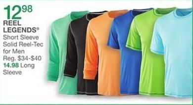 Bealls Florida Black Friday: Reel Legends Men's Short Sleeve Solid Reel-Tec Shirt for $12.98