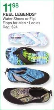 Bealls Florida Black Friday: Reel Legends Water Shoes and Flip Flops for Men and Women for $11.98