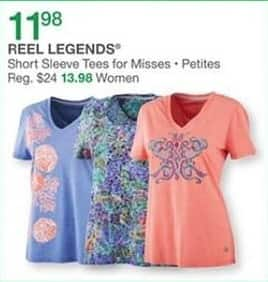 Bealls Florida Black Friday: Reel Legends Women's Short Sleeve Tees for $11.98