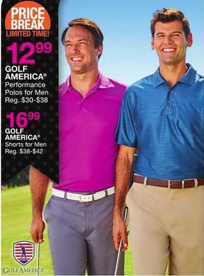 Bealls Florida Black Friday: Golf America Men's Performance Polo Shirt for $12.99