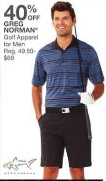 Bealls Florida Black Friday: Greg Norman Men's Golf Apparel - 40% Off