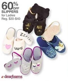 Bealls Florida Black Friday: Dearfoams Women's Slippers - 60% Off