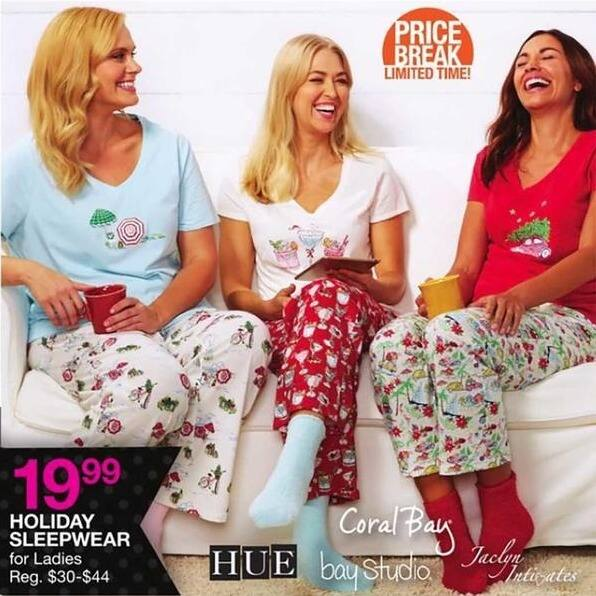 Bealls Florida Black Friday: Women's Holiday Sleepwear from Hue, Coral Bay, Bay Studio and Jaclyn Intimates for $19.99
