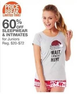 Bealls Florida Black Friday: Women's Sleepwear and Intimates - 60% Off