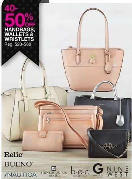 Bealls Florida Black Friday: Handbags, Wallets and Wristlets from Relic, Bueno, Nautica, Nine West, StoneMountain, BOC, and Guess - 40 - 50% Off