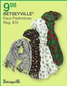 Bealls Florida Black Friday: Betseyville Faux Pashminas for $9.98