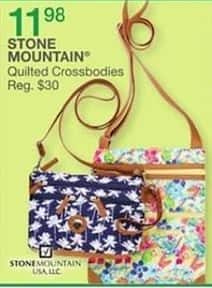 Bealls Florida Black Friday: Stone Mountain Quilted Crossbodies for $11.98