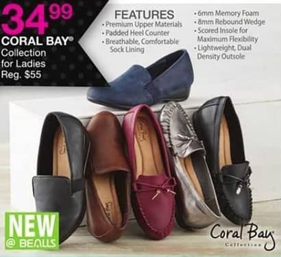 Bealls Florida Black Friday: Coral Bay Women's Collection Shoes for $34.99