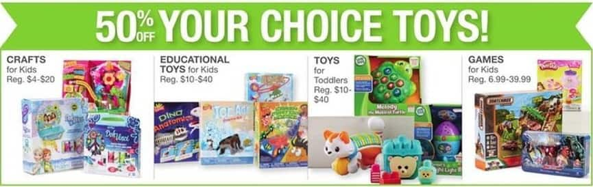 Bealls Florida Black Friday: Toys, Educational Toys, Crafts and Games for Kids and Toddlers - 50% Off