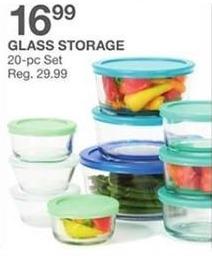 Bealls Florida Black Friday: Glass Storage, 20-pc. Set for $16.99