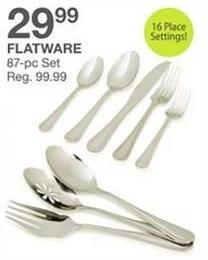 Bealls Florida Black Friday: Flatware, 87-Pc. Set for $29.99