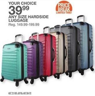 Bealls Florida Black Friday: Any Size Ciao Hardside Luggage for $39.99