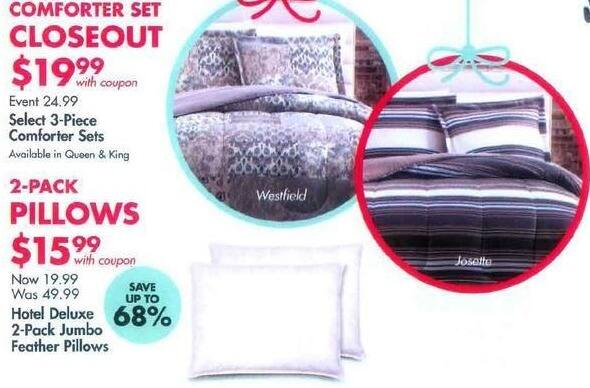 Bed Bath & Beyond Black Friday: 3-Piece Comforter Sets, Select Styles, Queen and King for $19.99